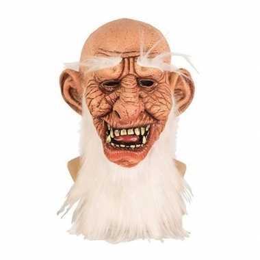 Oude dwerg horror/halloween masker van latex prijs