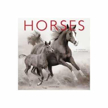 Paarden kalender zwart/wit 2019 prijs