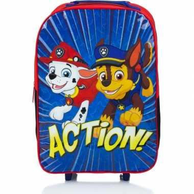 Paw patrol koffer op wieltjes blauw 42 cm voor kinderen prijs