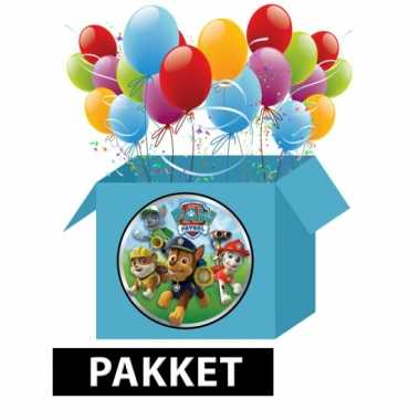Paw patrol versieringspakket voor kinderfeestjes prijs