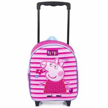 Peppa pig 3d koffer op wieltjes 31 cm voor kinderen prijs