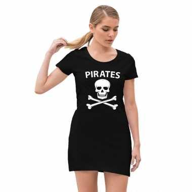 Piraten carnavalsjurkje / jurk zwart voor dames prijs