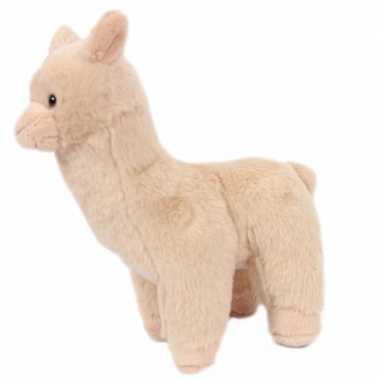 Pluche alpaca/lama knuffels beige 17 cm prijs