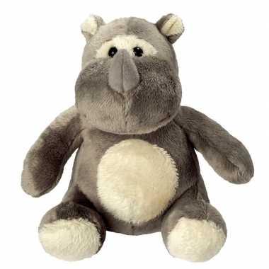 Pluche dierenknuffel neushoorn 12 cm prijs