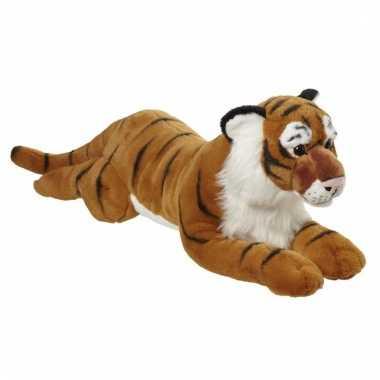 Pluche grote tijger knuffel liggend 70cm prijs