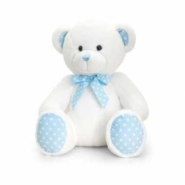 Pluche knuffelbeer blauw baby boy 35 cm prijs
