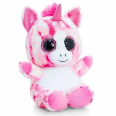 Pluche knuffeldier eenhoorn roze 25 cm prijs