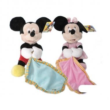 Vergelijk pluche minnie mouse knuffeldoek 25 cm prijs