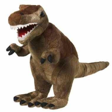 Pluche t-rex knuffel bruin van 20 cm prijs