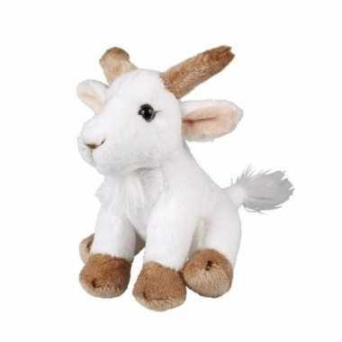 Pluche witte geit knuffel van 15cm prijs