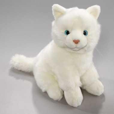 Pluche witte kat 23 cm prijs