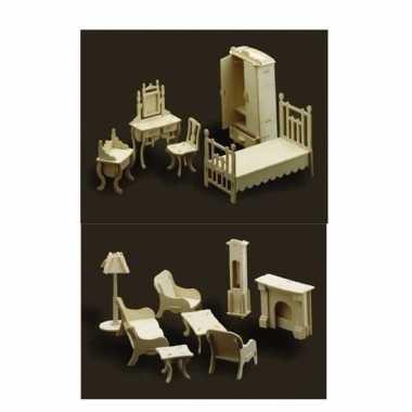 Poppenhuis meubel set woonkamer/slaapkamer prijs | Blogshot.nl
