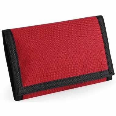 Portemonnee/portefeuille met klittenband sluiting rood prijs