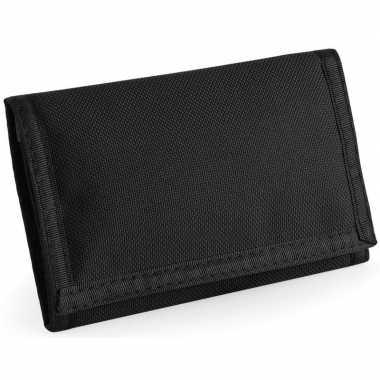 Portemonnee/portefeuille met klittenband sluiting zwart prijs