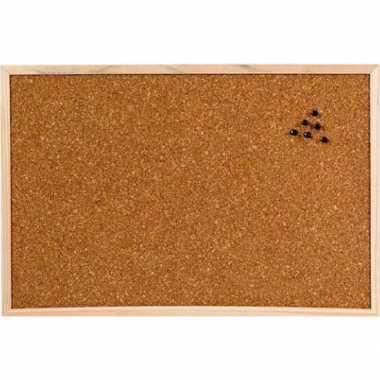 Prikbord/memobord naturel kurk 60 x 45 cm prijs