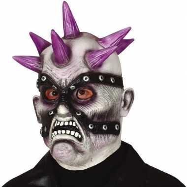 Punk zombie horror/halloween masker van latex prijs