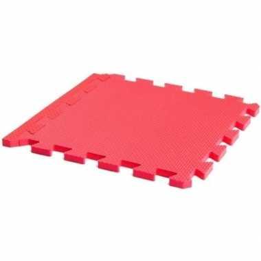 Puzzeltegels speelmat 9 stuks roze prijs