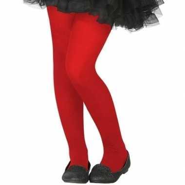 Rode 40 denier panty voor kinderen prijs