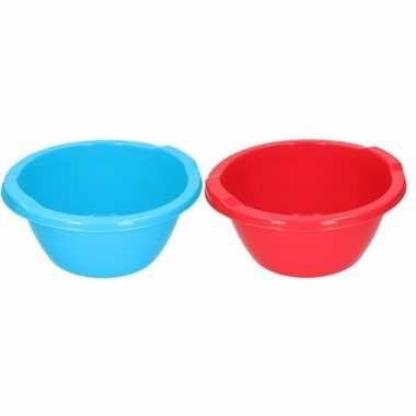 Rode en blauwe ronde afwasbak 6,5 l prijs