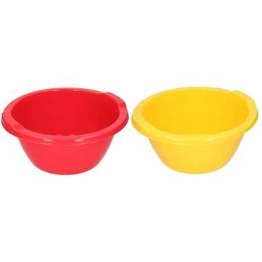 Rode en gele ronde afwasbak 6,5 l prijs