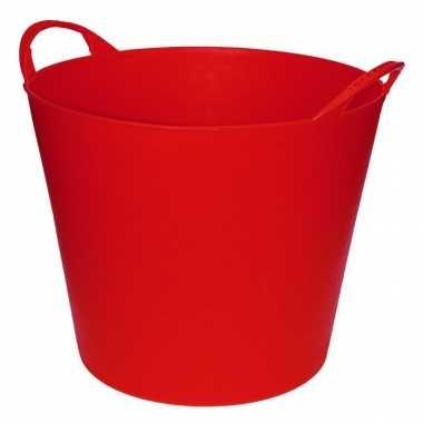 Rode flexibele opbergmand / emmer 20 liter prijs