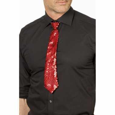 Rode glitter verkleed stropdassen 32 cm voor dames/heren prijs