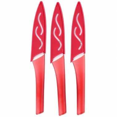 Rode groente/fruit mesjes 3 stuks prijs