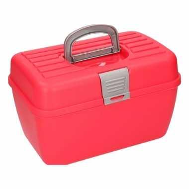 Rode opbergbox 28 cm prijs