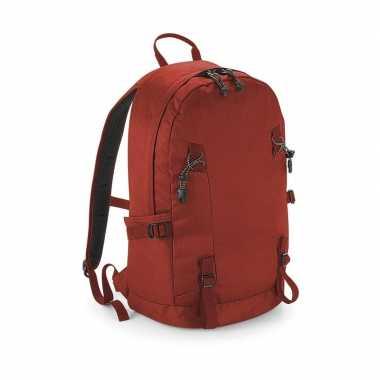 Rode rugtas voor wandelaars/backpackers 20 liter prijs