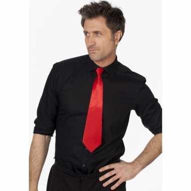 Rode verkleed stropdassen 41 cm voor dames/heren prijs