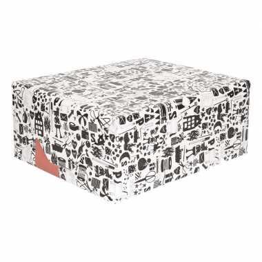 Rol met zwart/wit sinterklaas inpak papier prijs