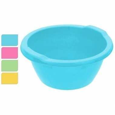 Rond afwasteiltje / afwasbak blauw 8 liter prijs