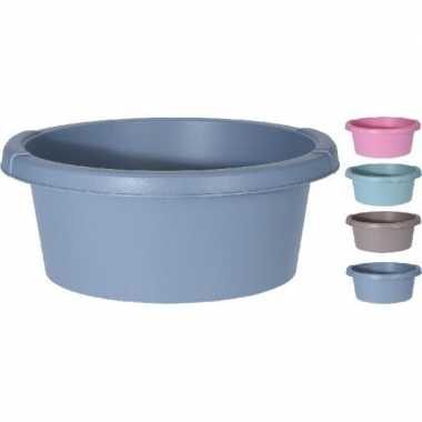 Rond afwasteiltje / afwasbak licht roze 8 liter prijs