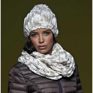 Ronde gebreide sjaal voor volwassenen prijs