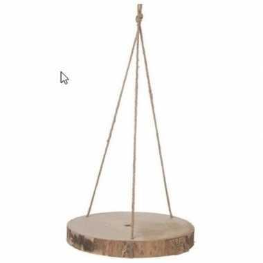 Ronde houten hangplateaus boomschijf 30 cm prijs