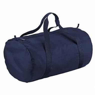 Ronde sporttas donkerblauw 32 liter prijs