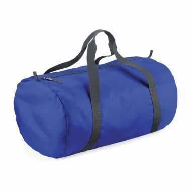 Ronde sporttas kobaltblauw 32 liter prijs