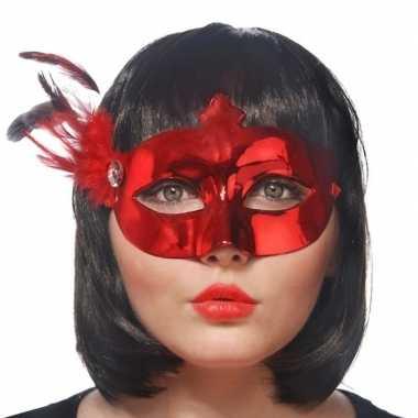 Rood mysterieus oogmasker voor dames prijs