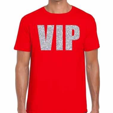 Rood vip zilver fun t-shirt voor heren prijs