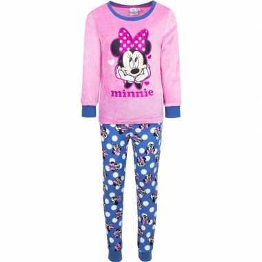 Roze disney pyjama minnie mouse met hartjes voor meisjes prijs
