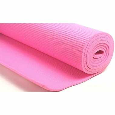 Roze fitness/sport mat 180 x 60 cm prijs