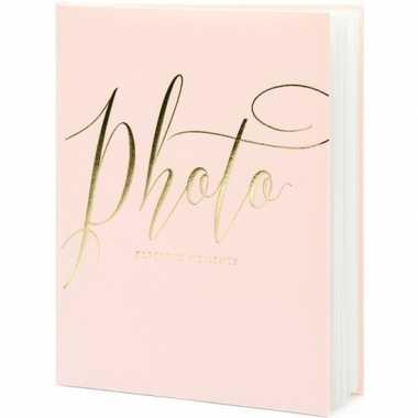 Roze/gouden fotoalbums/fotoboeken 20 x 25 cm precious moments prijs