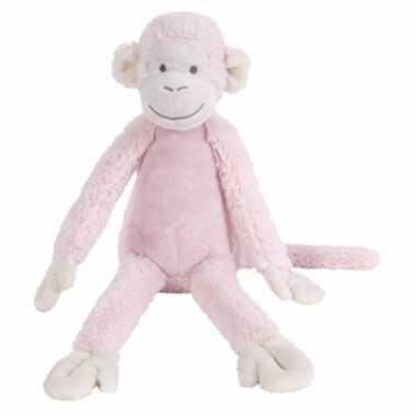 Vergelijk roze knuffel aap 32 cm prijs