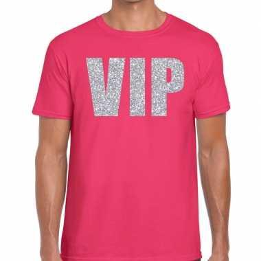 Roze vip zilver fun t-shirt voor heren prijs