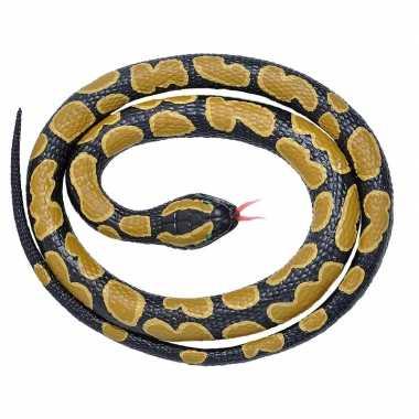 Rubberen dieren koningspython slang 117 cm prijs