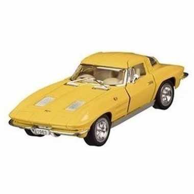 Schaalmodel chevrolet corvette geel1963 13 cm prijs