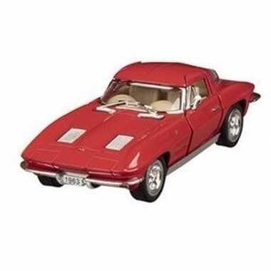 Schaalmodel chevrolet corvette rood 1963 13 cm prijs
