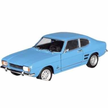 Schaalmodel ford capri 1969 blauw 17,5 cm prijs