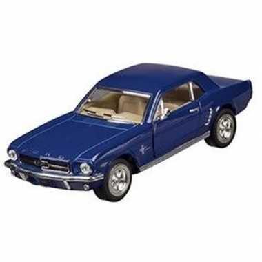 Schaalmodel ford mustang 1964 blauw 13 cm prijs
