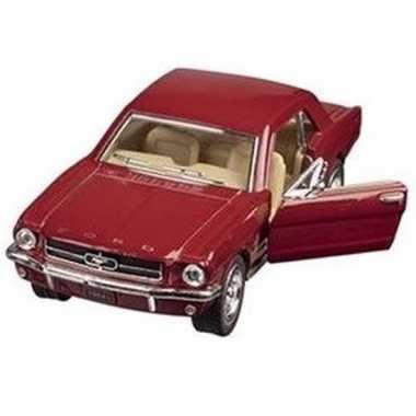 Schaalmodel ford mustang 1964 rood 13 cm prijs
